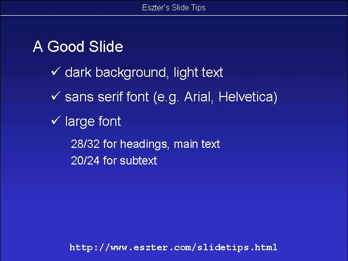 eszter hargittai s slide presentation tips and tricks page